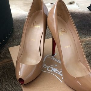 Authentic Christian Louboutin open clic minipeep